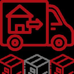 Umzugswagen der WUBB Logo Halteverbot Nutzung